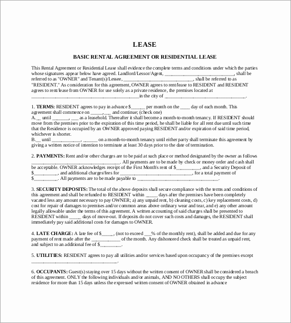 Rental Agreement Template Word Inspirational 42 Agreement Templates Word Pdf