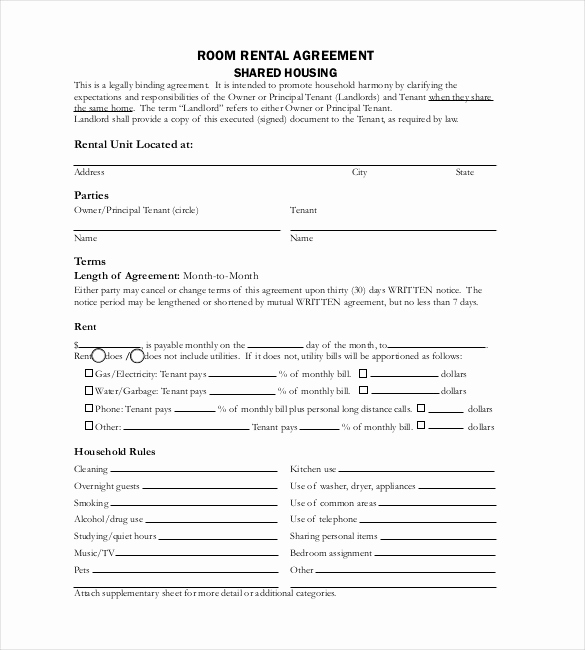 Rental Agreement Template Word Inspirational Free Lease Agreement Template Word