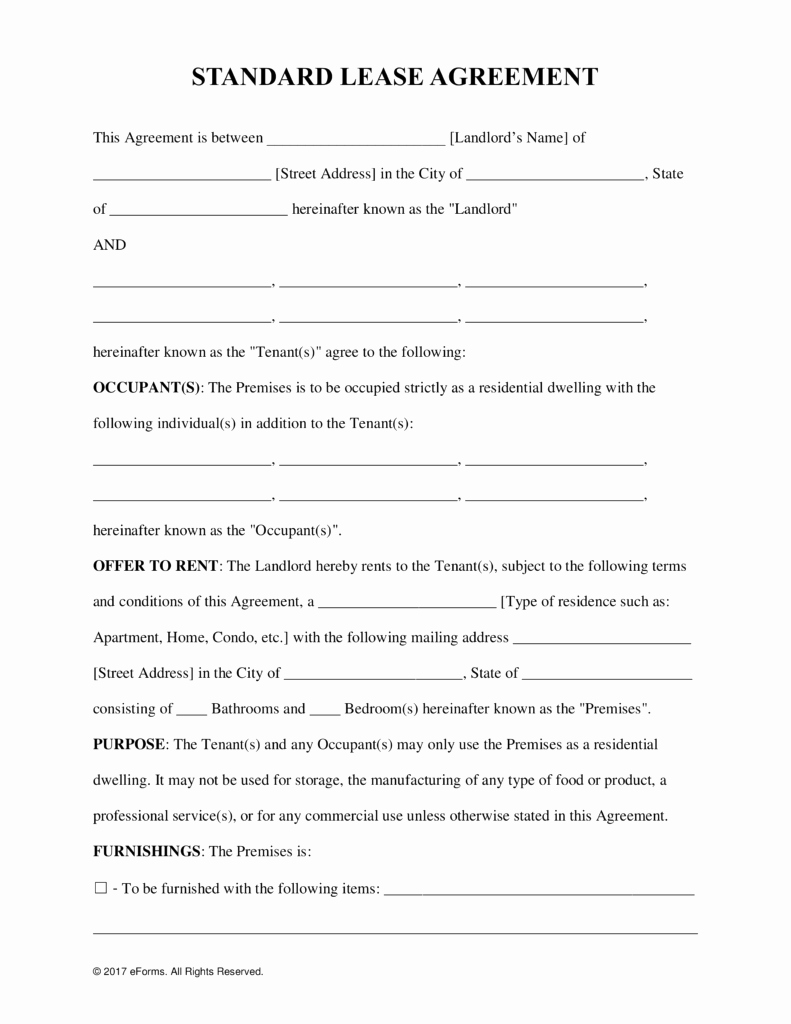 Rental Agreement Template Word New Free Rental Lease Agreement Templates Residential