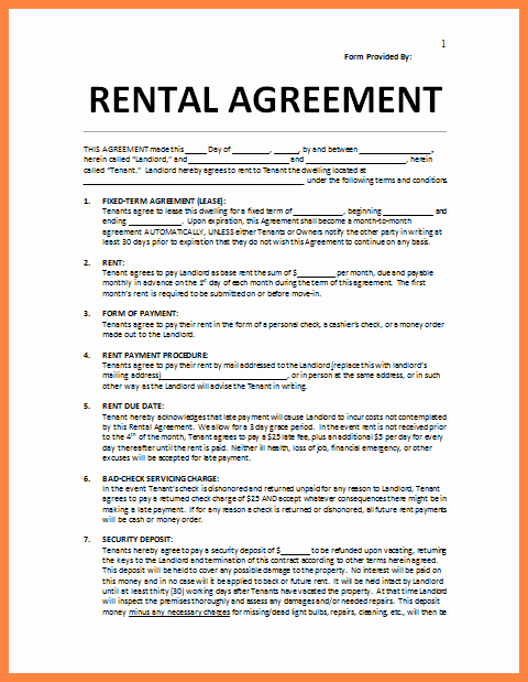 Rental Agreement Template Word Unique 4 Residential Lease Agreement Template Word