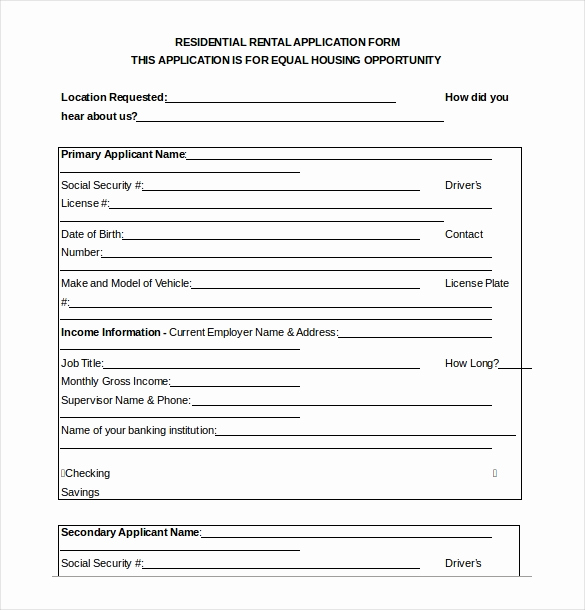 Rental Application form Doc Awesome 13 Rental Application Templates – Free Sample Example