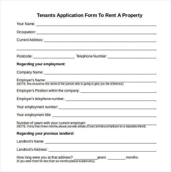 Rental Application form Doc Awesome 13 Tenancy Inventory Templates – 14 Doc Excel Pdf