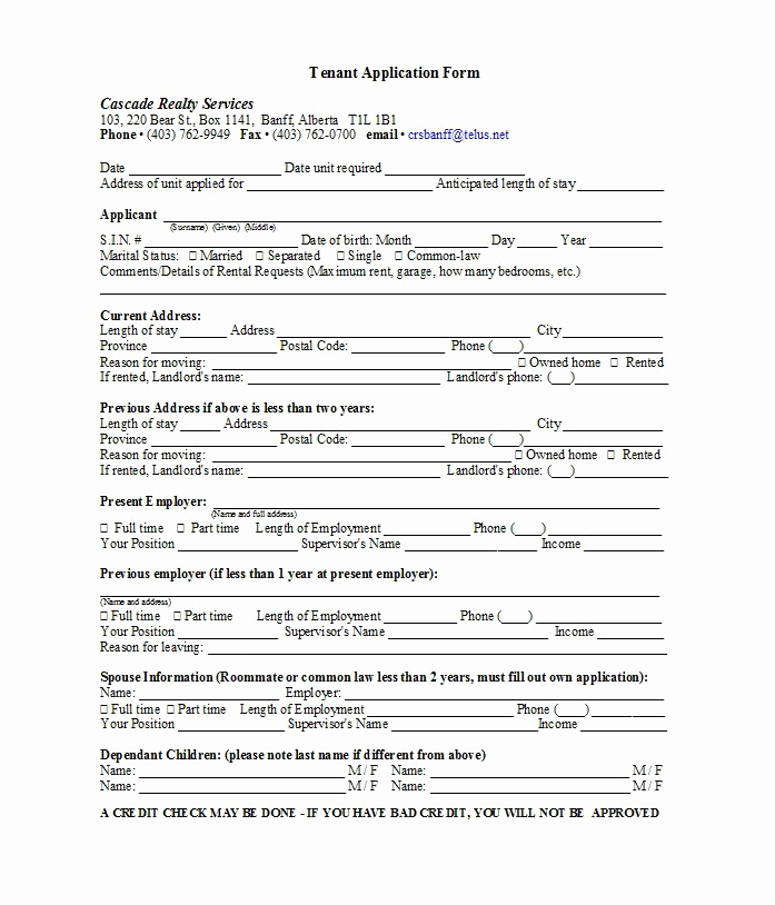 Rental Application form Doc Inspirational 42 Rental Application forms & Lease Agreement Templates