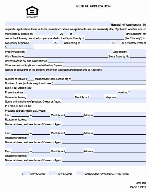 Rental Application form Pdf Luxury Rental Application form Pdf