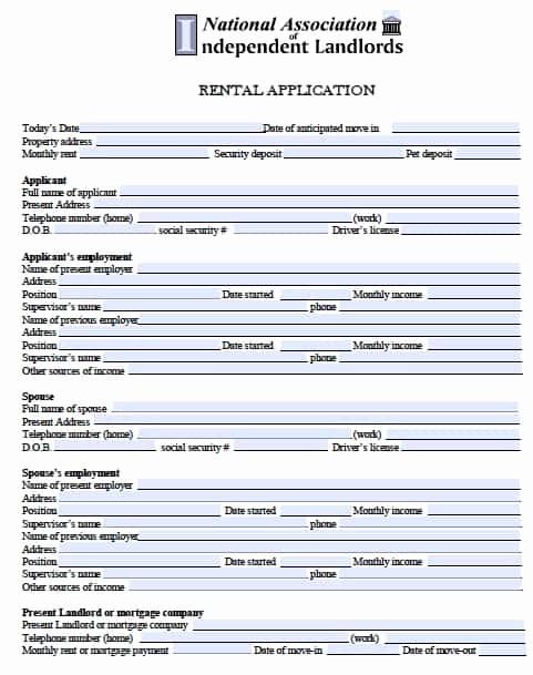 Rental Application forms Pdf Beautiful Free Minnesota Rental Application – Pdf Template