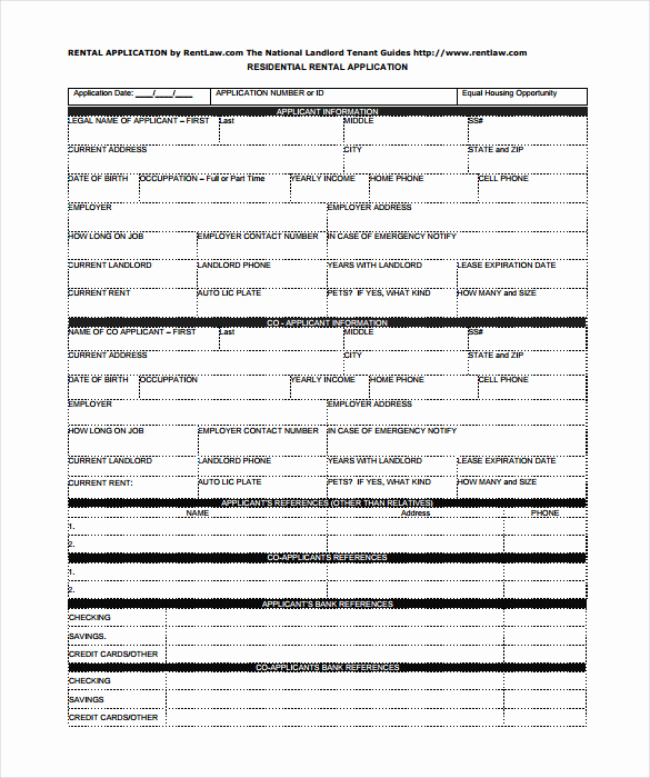 Rental Application forms Pdf Best Of Rental Application – 18 Free Word Pdf Documents Download
