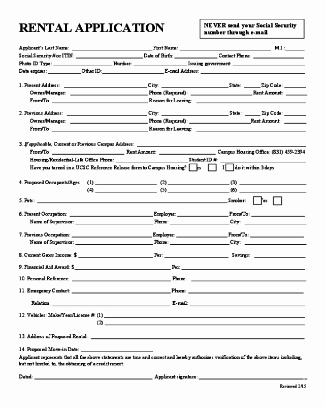 Rental Application forms Pdf New 2018 Rental Application form Fillable Printable Pdf