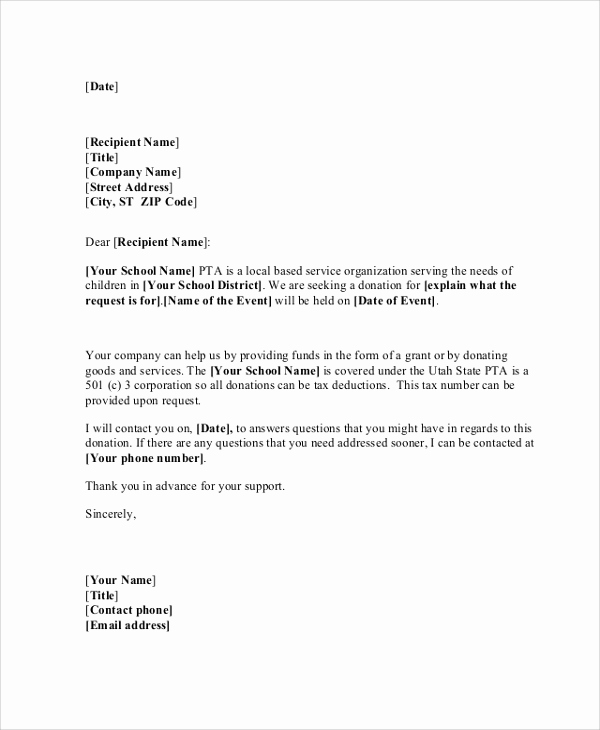 Request for Donations Letter Elegant Sample Donation Request Letter 7 Documents In Pdf Word