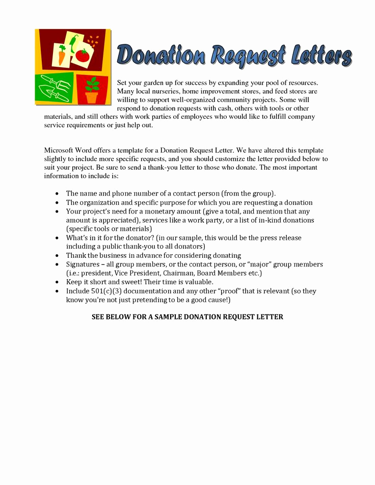 Request for Donations Letter Inspirational Sample Church Donation Letter