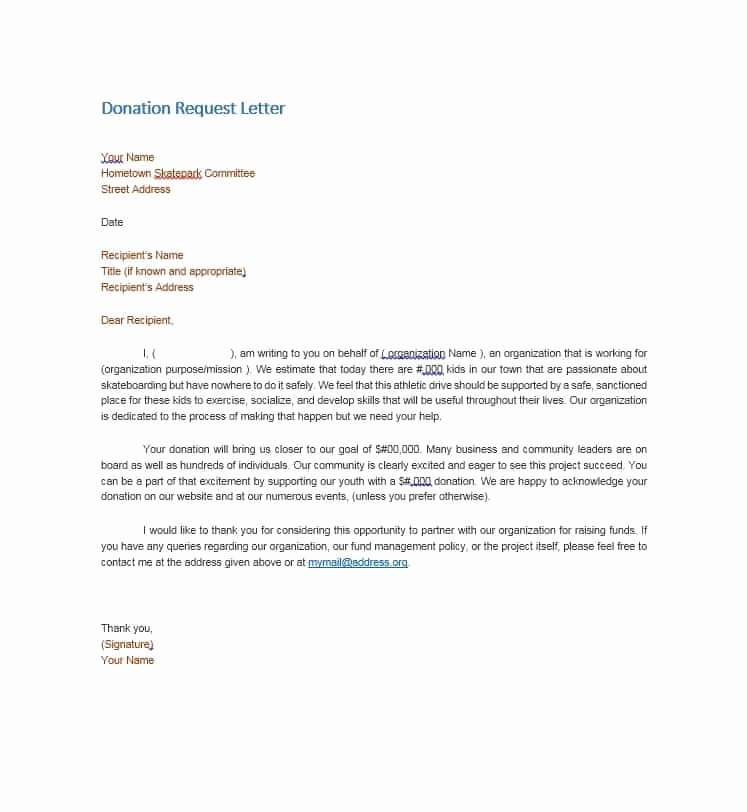 Request for Donations Letter New 43 Free Donation Request Letters & forms Template Lab