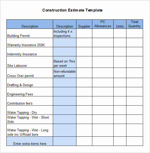 Residential Construction Budget Template Excel Fresh Residential Construction Bud Template Excel