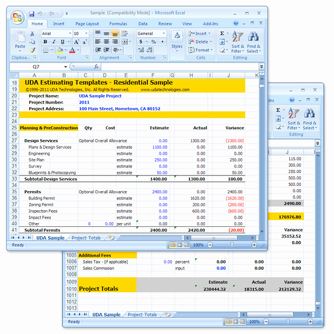 Residential Construction Schedule Template Excel Elegant Uda Construction Estimating Templates Residential Excel