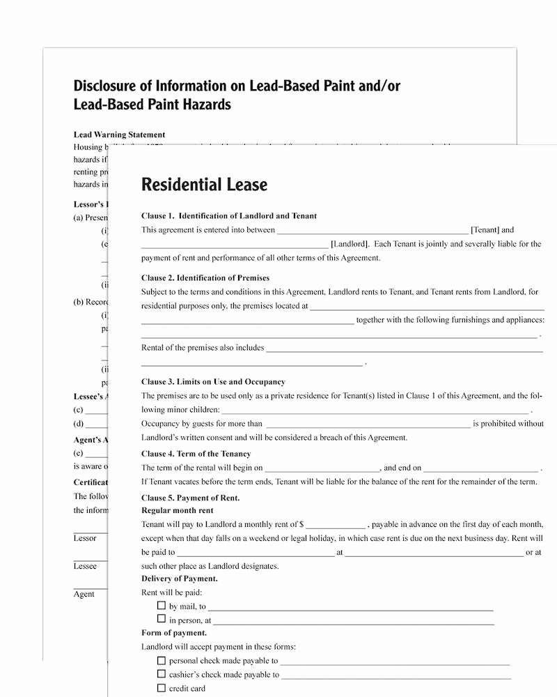 Residential Rental Agreement form Fresh Adams Residential Lease forms and Instructions