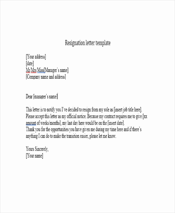 Resign Letter Short Notice Beautiful Reinadela Selva – Just Another Wordpress Site