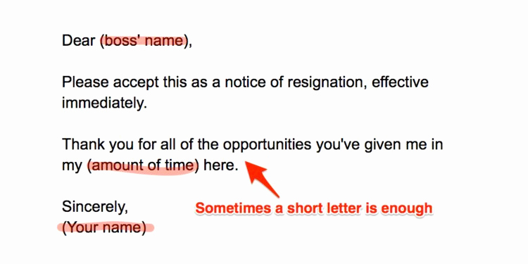 Resign Letter Short Notice Unique How to Write A Resignation Letter Business Insider