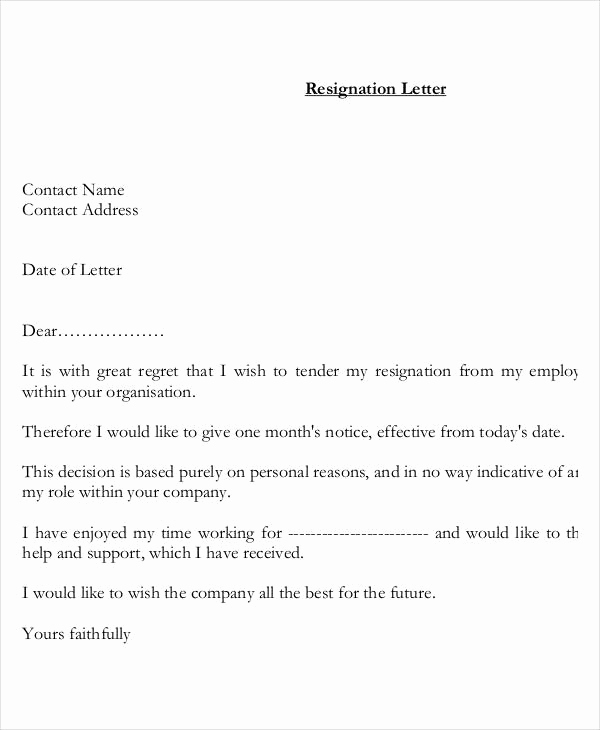 Resignation Letter Personal Reasons Beautiful Resignation Letter with Reason Template 13 Free Word