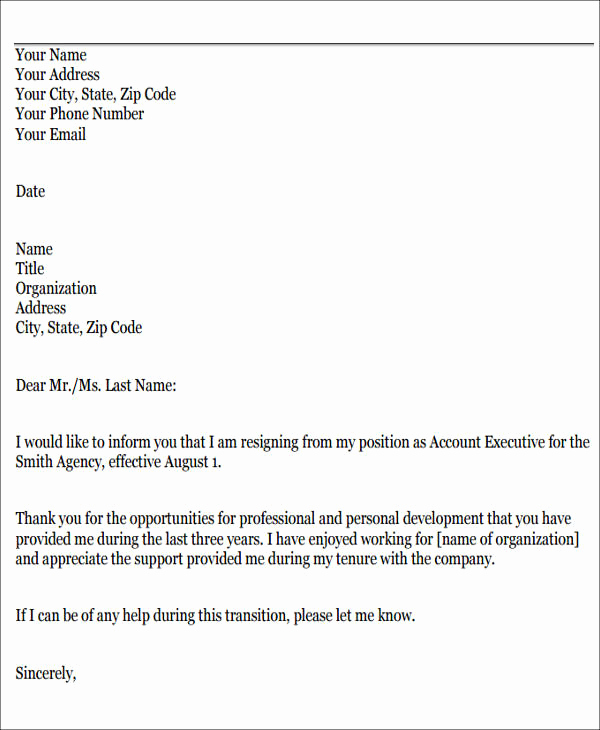 Resignation Letter Personal Reasons Elegant 8 Sample Resignation Letters for Personal Reasons Doc Pdf