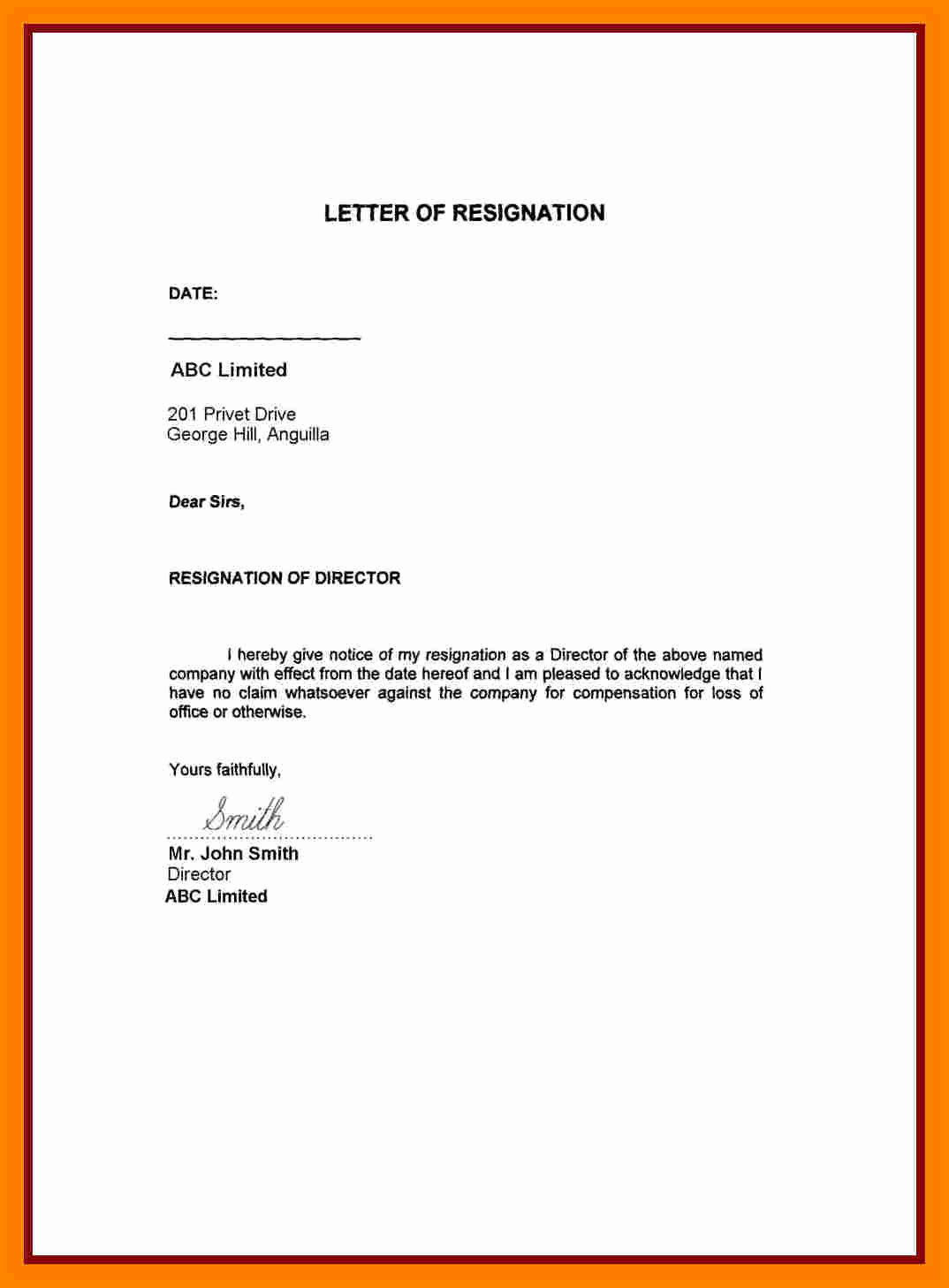 Resignation Letter Personal Reasons Fresh 6 Resignation Letter Family Reasons