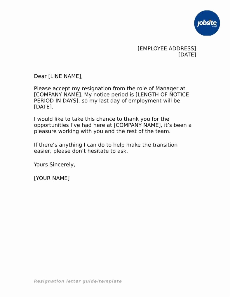 Resignation Letter Template Free New 33 Simple Resign Letter Templates Free Word Pdf Excel