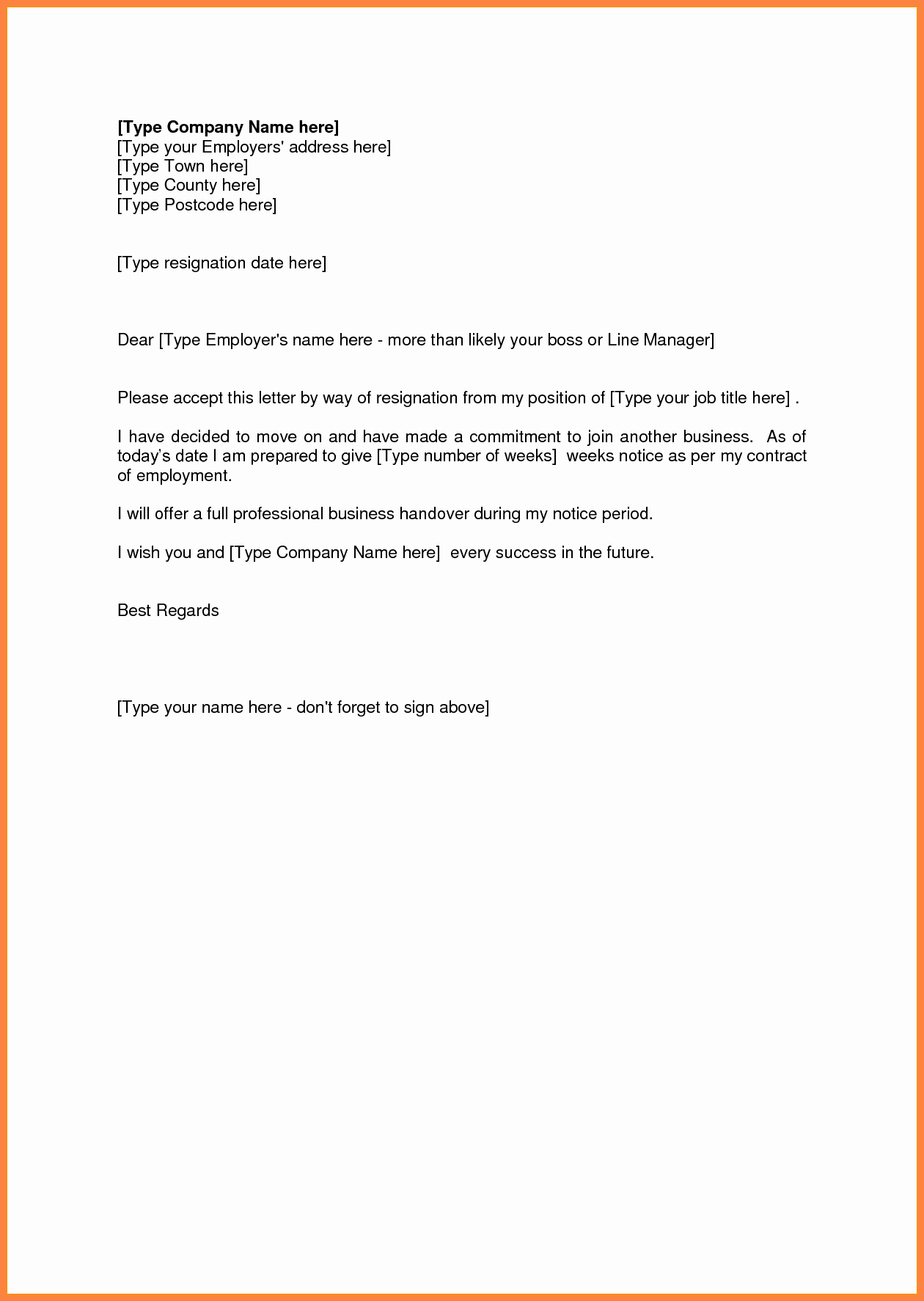 Resignation Letter Two Weeks Notice Elegant 4 Sample Resignation Letter 2 Weeks Notice Pdf