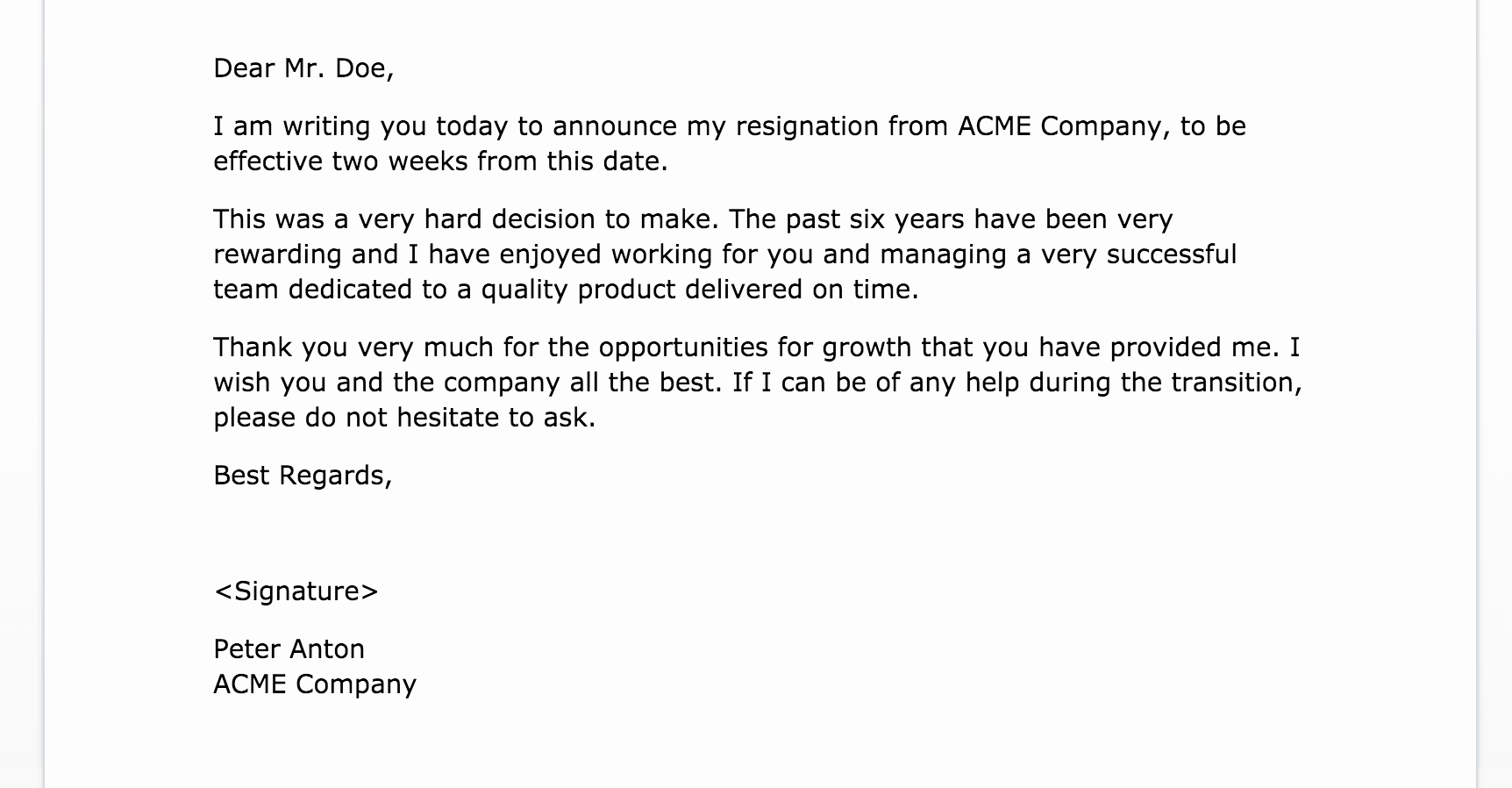 Resignation Letter Two Weeks Notice Unique 2 Weeks Notice Letter Of Resignation Fppt