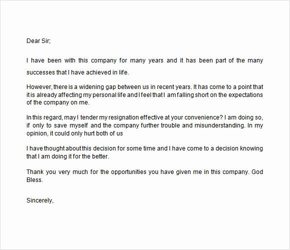 Resignation Letters Short Notice Luxury 8 Notice Of Resignation Samples