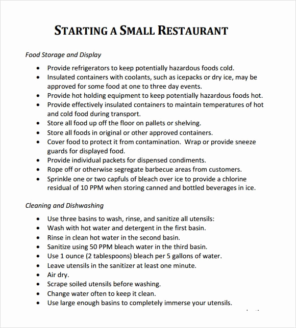 Restaurant Business Plan Sample Elegant 5 Free Restaurant Business Plan Templates Excel Pdf formats