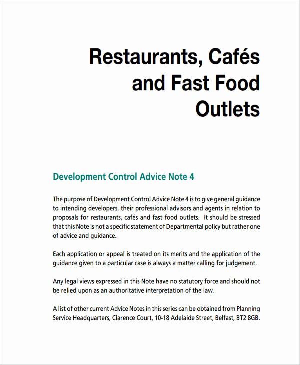 Restaurant Business Plan Sample Luxury 6 Restaurant Business Proposal Templates Free Samples