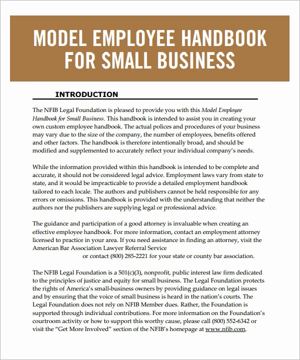Restaurant Employee Hand Book Unique Employee Handbook Template 6 Free Pdf Doc Download