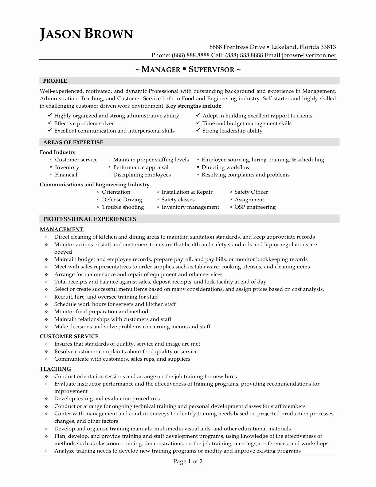 Restaurant General Manager Resumes Unique 14 Sample Restaurant Manager Resume Samplebusinessresume
