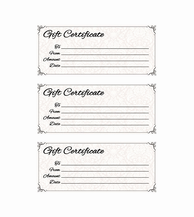 Restaurant Gift Certificate Template Awesome Classic Antique Gift Certificate Places to Visit