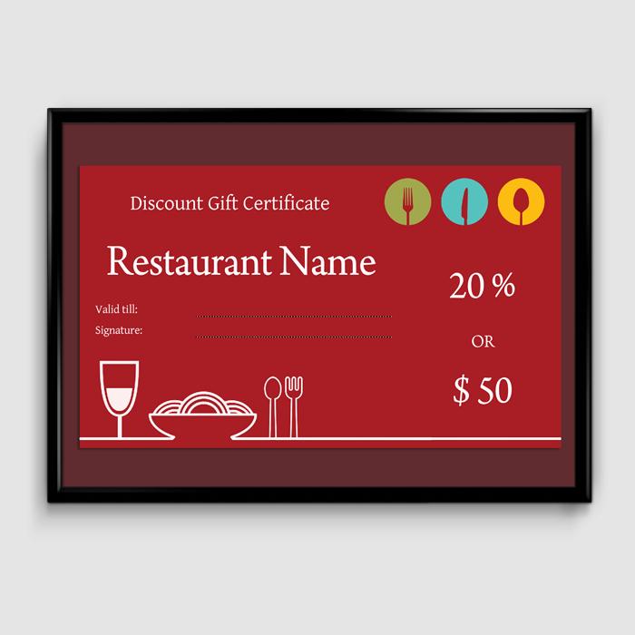 Restaurant Gift Certificate Template Beautiful Gift Certificate Template 6 Fillable Certificate