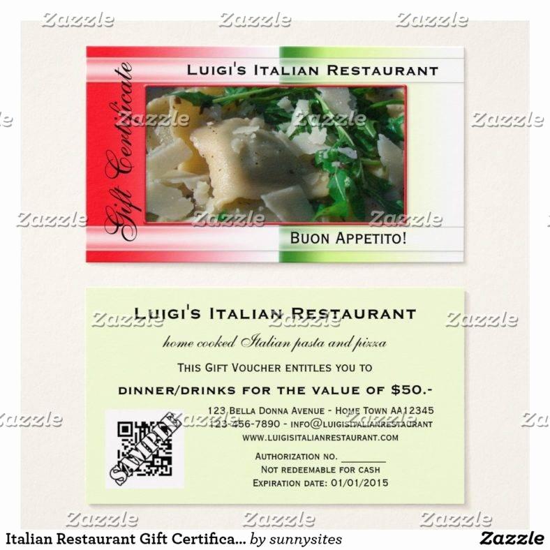 Restaurant Gift Certificate Template Best Of 14 Restaurant Gift Certificates