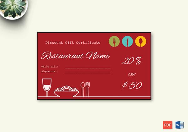 Restaurant Gift Certificate Template Best Of Restaurant Gift Certificate Template Word – Doc formats