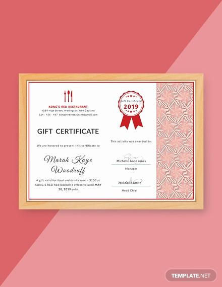 Restaurant Gift Certificate Template Fresh Free Birthday Gift Certificate Template Download 232