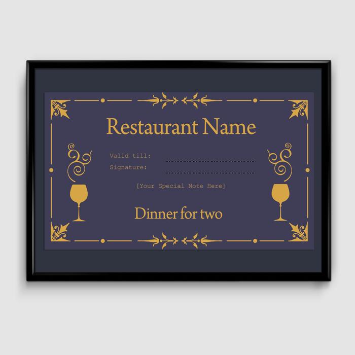Restaurant Gift Certificate Template Fresh Gift Certificate Template 6 Fillable Certificate