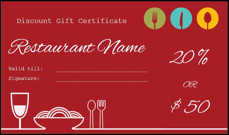 Restaurant Gift Certificate Template Fresh Gift Certificate Templates