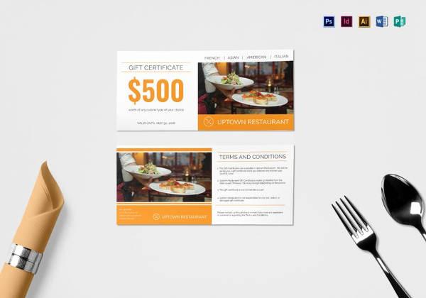 Restaurant Gift Certificate Template Lovely Best Gift Certificate Templates 38 Free Word Pdf