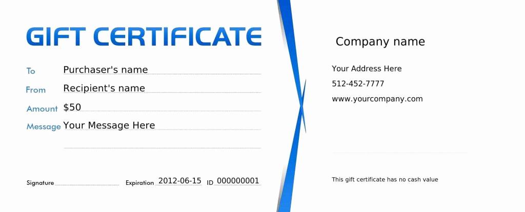 Restaurant Gift Certificate Template Unique Free Restaurant Gift Certificate Template Template