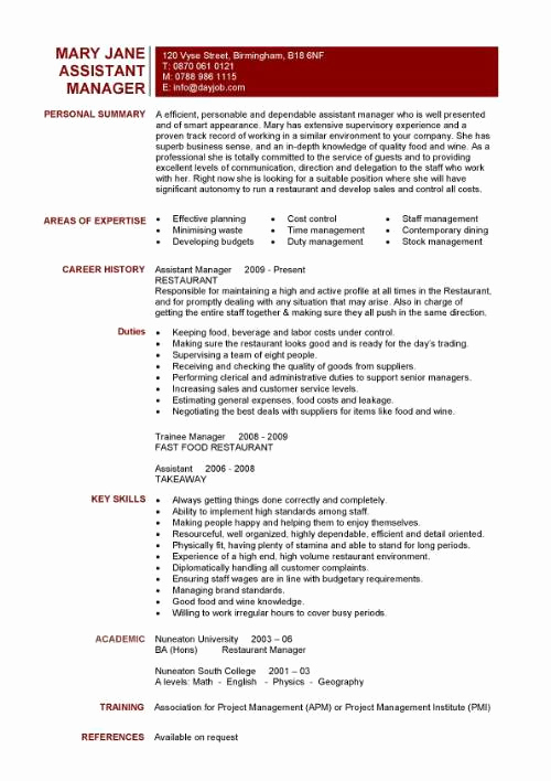 Restaurant Manager Resume Examples Luxury Resume for Restaurant Supervisor Resume Ideas