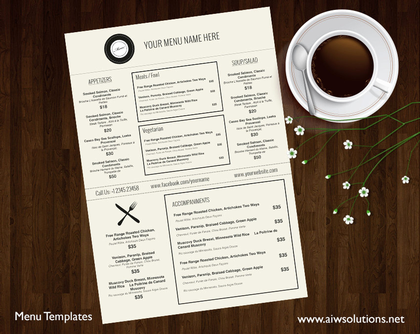 Restaurant Menu Template Free Beautiful Design & Templates Menu Templates Wedding Menu Food