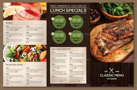 Restaurant Menu Template Free Beautiful Food Menu Template
