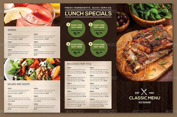 Restaurant Menu Template Free Best Of 51 Restaurant Menu Templates Design Psd Docs Pages