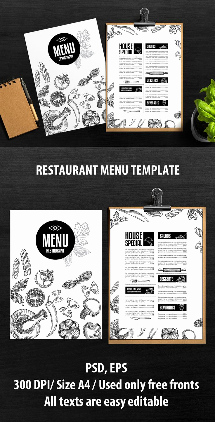 Restaurant Menu Template Free Lovely 25 Best Ideas About Menu Templates On Pinterest