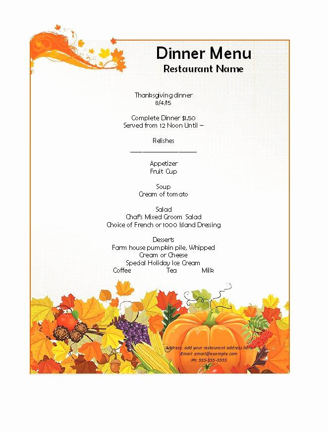 Restaurant Menu Template Free Luxury 31 Free Restaurant Menu Templates & Designs Free