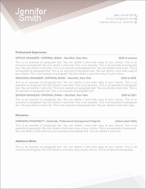 Resume Cover Letter Template Word Elegant Free Resume Template Premium Line Of Resume