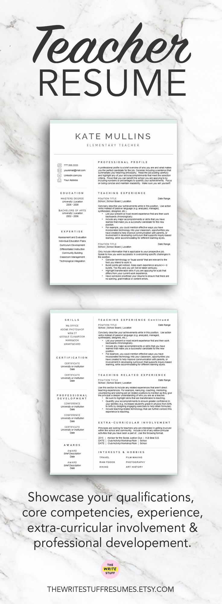 Resume Cover Letter Template Word Inspirational Best 25 Teacher Resume Template Ideas On Pinterest