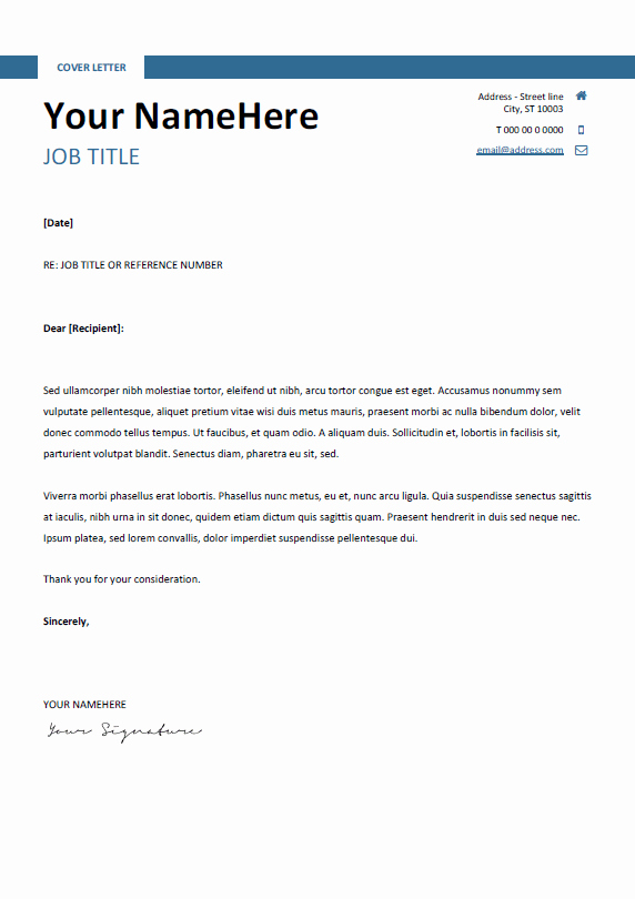 Resume Cover Letter Template Word Inspirational Montjuic Clean and Simple Resume Template