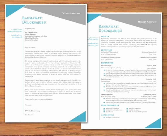 Resume Cover Letter Template Word Lovely Modern Microsoft Word Resume and Cover Letter Template by