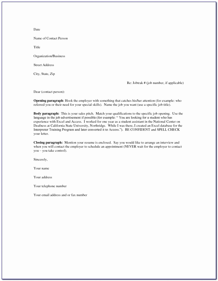 Resume Cover Letter Template Word Unique Basic Cover Letters for Resumes General Letter Resume